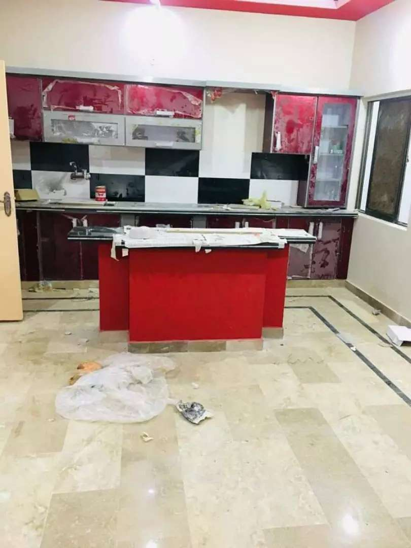Grounfloor portion for rent in block A North Nazimbad 0