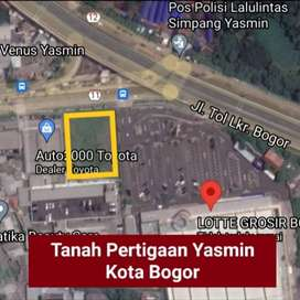 Disewakan/Dijual Tanah Premium Pertigaan Yasmin Kota Bogor