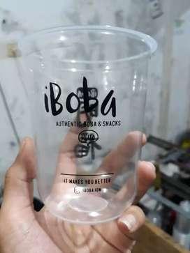 Cetak gelas plastik berkualitas CUP PP OVAL 22oz 10gram