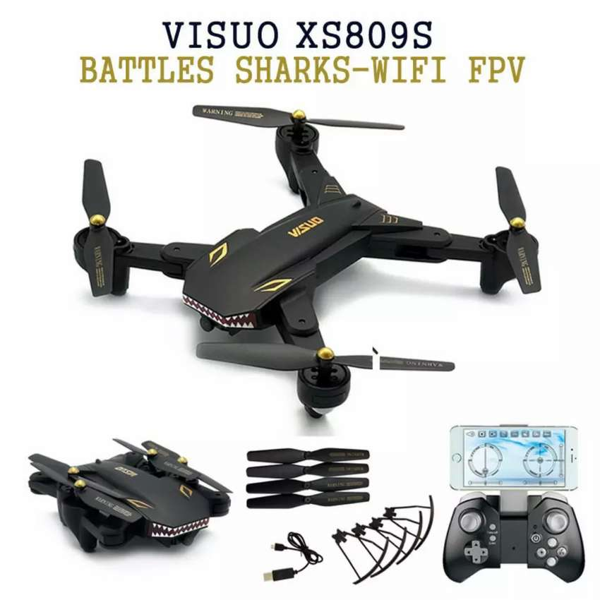 Visuo Battle Shark Quadcopter Drone WiFi 0.3MP Camera -XS809S-H-W-VGA 0