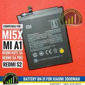 Baterai Battery BN31 Xiaomi Redmi S2 Mi5x MiA1 Note 5A Redmi 5A Pro