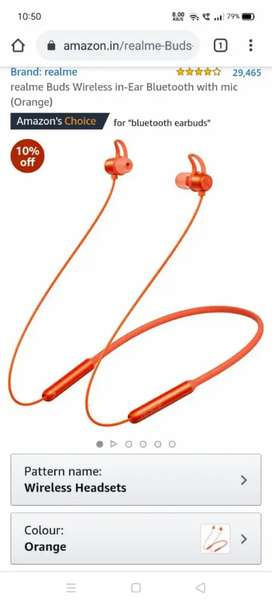 Realme Wireless Bluetooth Headset