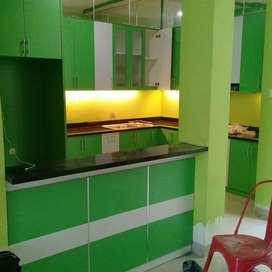 Jasa Interior Kitchen Set + Meja Bar di Perumahan Serpong Tangerang