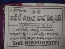 Atoz job service bisenes cheyadaniki fin support kavali
