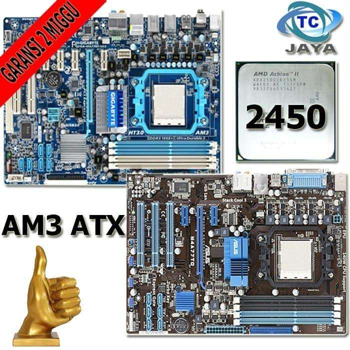 Mainboard AMD AM3 ATX Offboard Asus Gigabyte plus Athlon II X2 2450 0
