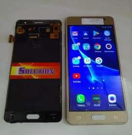 Lcd Touchscreen Samsung J3 Pro 2016 / J3110 Gold Black White (Kontras)