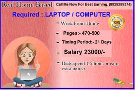 Data entry job for specially house wife and students