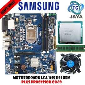 Motherboard intel LGA 1155 H61 SAMSUNG Plus Processor G1630 + RAM 2GB