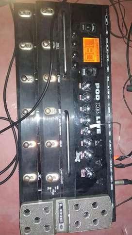 Line6 x3 live guitar processor with original power adapter and bag.
