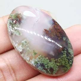Batu Akik Lumut Trenggalek Multi colour Asli Berkhasiat (Kode 137)