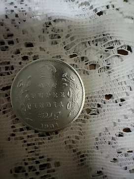 1904 Edward VII King and Emperor Silver Coin
