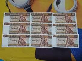 Uang mancanegara Myanmar 50kyat