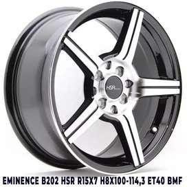 jual velg mobil HSR EMINENCE ring15 lebar7 baut4X100-114,3