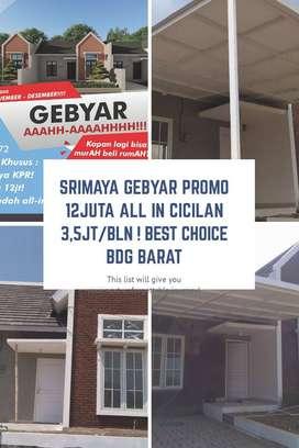 4 Unit Terakhir Rumah Best seller 400 jutaan di Cilame dkt kntr Bupati
