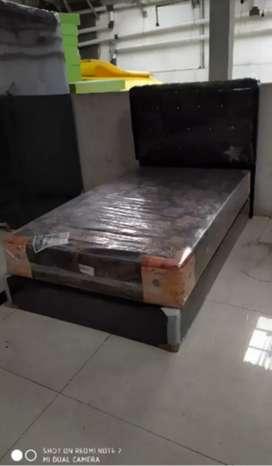 1 set kasur springbed central + divan oscar 120 x 200 cm gratis bantal