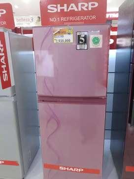 Kulkas merek Sharp 2 pintu bisa kredit