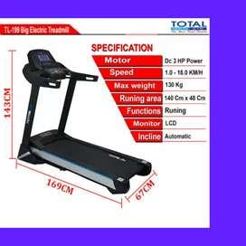 treadmill elektrik TL-199 incline iG-68 II sepeda statis