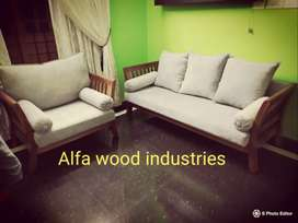 Factory direct wooden sofa available