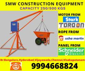 Mini construction lifts 250 kg, 500 kg (heavy) 100 feet height