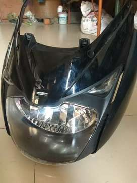New Mask and headlight of pulsar 150
