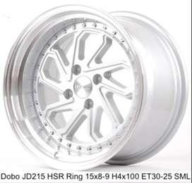 velg racing DOBO JD215 HSR R15X8/9 H4x100 ET30/25 SML