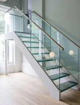 Railing tangga kaca 1525