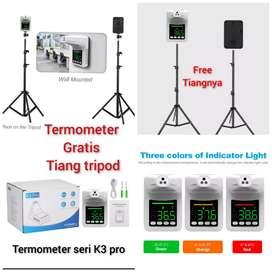 Termometer tiang infrared digital termogun thermometer otomatis