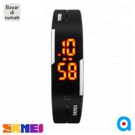 Jam tangan gelang digital bracelet skmei original ab1099 black
