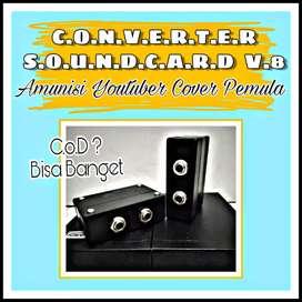 CONVERTER SOUNDCARD V8