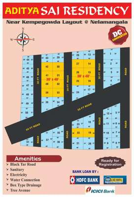 Dc Converted sites for available in nelamangala Aditya sai recidency