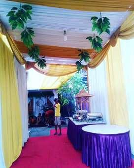 Sewa tenda, alat alat pesta, dekorasi, meja, kursi