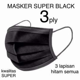 Ready 1 box Masker Hitam 3 ply