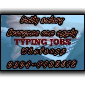 Online best typing job for everyone on daily basis. 2928