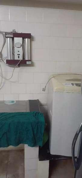Flat furnished kodialguthu cots,gas,tv,AC,fridge,washing machine chair