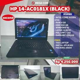 COD BISA, PROMO HP 14-AC0181X RAM 4 GB SECOND MURAH BERGARANSI