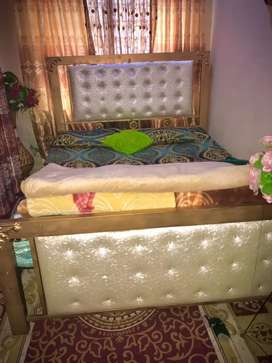 iron double bed brand new condition