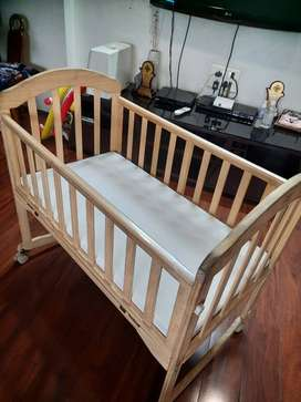 Baby Crib with Mattress.. Mee Mee from first cry