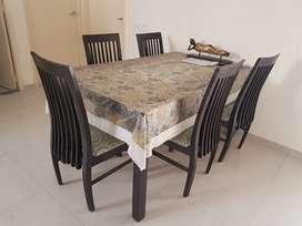 5 chair Glass Dining Table