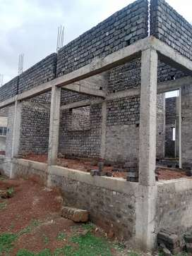 Half constructed for sale 10lak
