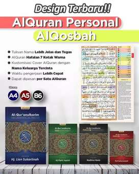Al Qosbah Al Quran Personal (Customize Name) A4 Hard Cover