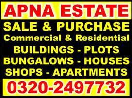 APNA ESTATE & BUILDERS - House For Sale 60 Sq.Yd Nasir Colony Korangi