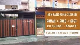 Rumah Ruko Kosan Cileungsi Bogor dekat Pesantren Rodja