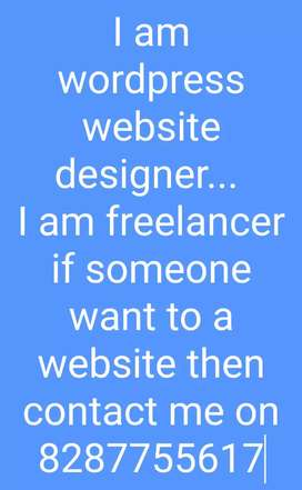 I am wordpreess website designer and digital marketing... I