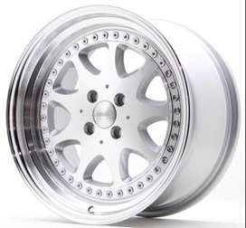 HSR WHEEL velg inport model Bavaria JD9016 Ring17 H4x100 buat march