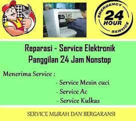 Panggilan service Kulkas 2pintu Showcase / Mesin cuci / Kompor tanam