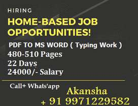 Hiring For Part/Full Time Typing Job - Apply Here