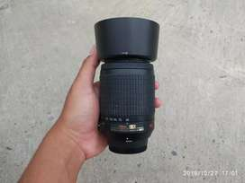 Lensa tele nikon 55-200mm mulus fulset