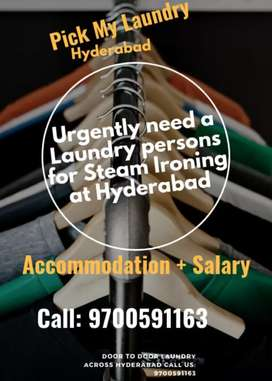 Urgently need a Male/Female Laundry persons for Steam Ironing Clothes