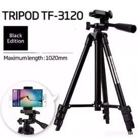 Tripod 3120 hitam tinggi 1 meter universal kamera dan hp
