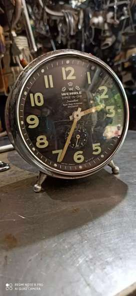 Old Antic Vintage alarm clock running condition